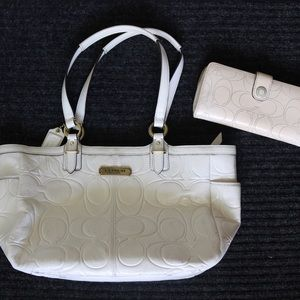Coach Shoulder Bag & Matching Wallet